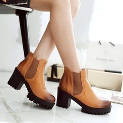 Pastel Pairs - Chunky Heel Gradient Ankle Boots