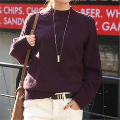CHICFOX - Mock-Neck Raglan-Sleeve Sweater