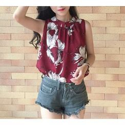 Dream Girl - Printed Sleeveless Chiffon Top
