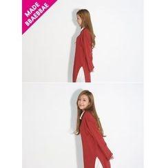 BBAEBBAE - Hooded Slit Pullover