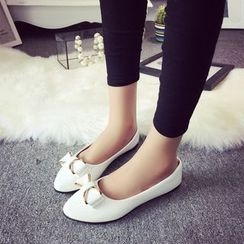 YIVIS - 蝴蝶结平跟鞋