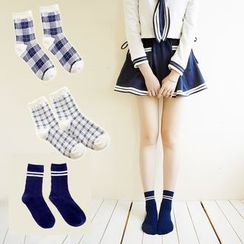 NANA Stockings - Plaid / Striped Socks