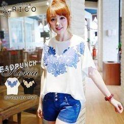 rico - Short-Sleeve Floral T-Shirt