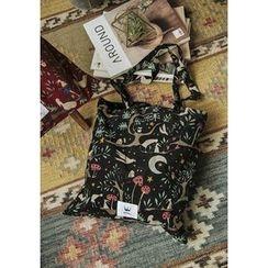 GOROKE - Patterned Corduroy Shopper Bag