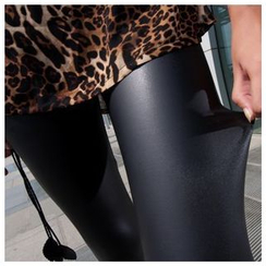 Meigo - Faux Leather Leggings