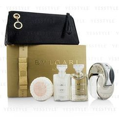 Bvlgari - Omnia Crystalline Coffret: Eau De Toilette Spray 65ml/2.2oz + Body Lotion 40ml/1.35oz + Shower Gel 40ml/1.35oz + Soap 50g/1.76oz + Pouch