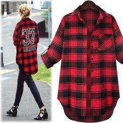 HOTCAKE - Plaid Long Shirt