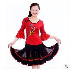 AUM - 舞蹈套装: 上衣 + 短裙