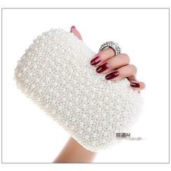 Glam Cham - Faux Pearl Evening Clutch