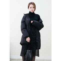 Dalkong - Hooded Zip-Up Thick Padded Coat