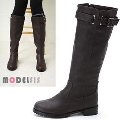 MODELSIS - Buckled Long Boots