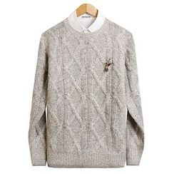 Seoul Homme - Cable-Knit Top