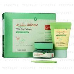 Etude House - AC Clinic Intense Red Spot Balm Set: Balm 20ml + Cleanser 30ml