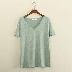 Mushi - V-Neck T-Shirt