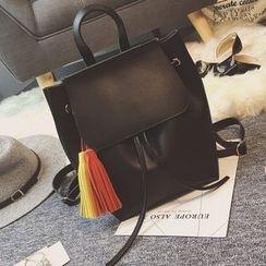 Velocia - Tasseled Flap Backpack