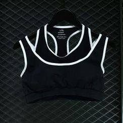 FAYE - Mock Two Piece Sports Bra