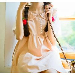 Moricode - Peter Pan Collar Sleeveless Dress