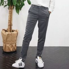 Seoul Homme - Flat-Front Dress Pants