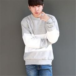 Smallman - Round-Neck Color-Block T-Shirt