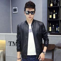YamYork - Faux-Leather Jacket