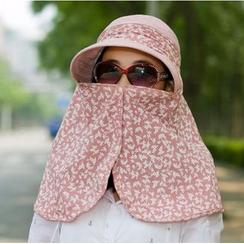 SHUMI - 印花太阳帽连面罩