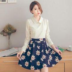 Tokyo Fashion - Mock Two-Piece Collared Dress