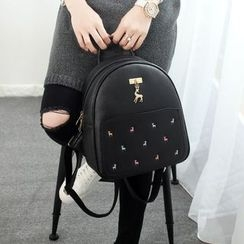 Princess Carousel - Deer Embroidered Backpack