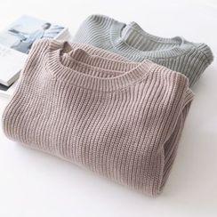 Bonbon - Lantern Sleeve Knit Top
