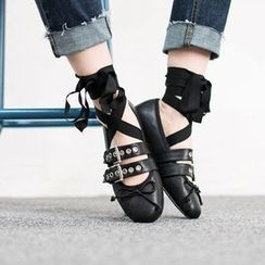VIVIER - Belted-Detail Strappy Flats