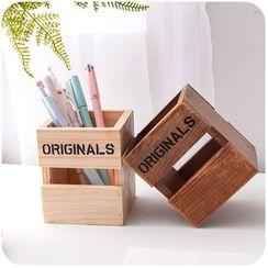 默默愛 - 木質筆筒