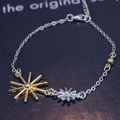 HEDGY - Rhinestone Necklace / Bracelet / Stud Earrings