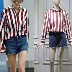 JOYIST - Set: Striped Shirt + Denim Shorts