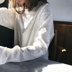 forever fair - Plain Loose-fit Long-Sleeve T-shirt