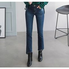 Miamasvin - Fray-Hem Boot-Cut Jeans