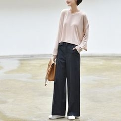Ranche - Pinstriped Wide Leg Pants