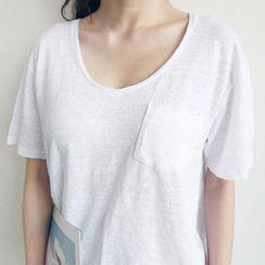 NANING9 - Linen T-Shirt