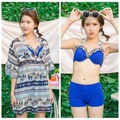 DAISI - Set: Bikini + Printed Cover Up