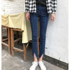 Tiny Times - Slit Skinny Jeans