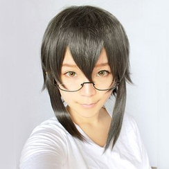 Ghost Cos Wigs - Cosplay Short Wavy Wig - Sword Art Online: Asada Shino