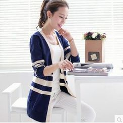 Weaverbird - Striped Long Cardigan
