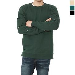 Seoul Homme - Distressed Sleeve Sweatshirt