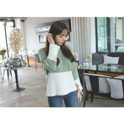 Envy Look - Mock-Neck Color-Block Sweater