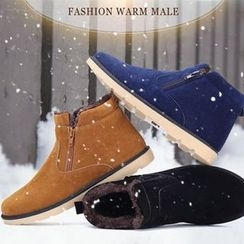 Preppy Boys - Fleece-Lined Zip-Accent Ankle Boots