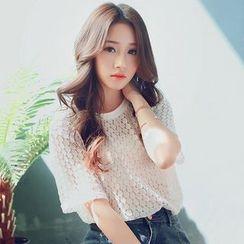 Ashlee - 中袖蕾丝T恤