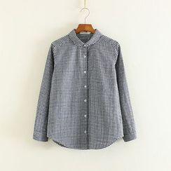 Mushi - Round Collar Long-Sleeve Shirt