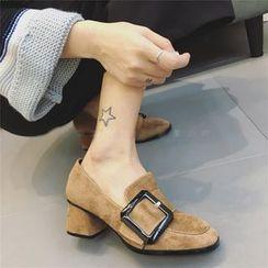 QQ Trend - 粗跟饰扣乐福鞋