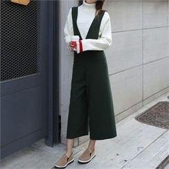 CHICFOX - Wide-Leg Suspender Pants