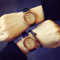 InShop Watches - Wooden-Dial Strap Watch