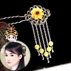 Paparazzi - 花形裝飾垂飾髮簪