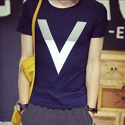 maxhomme - 字母短袖T恤
